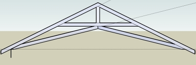 I need some help with scissor truss layout in General Board