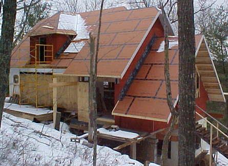 Zip System Sheathing in Timber Framing/Log construction