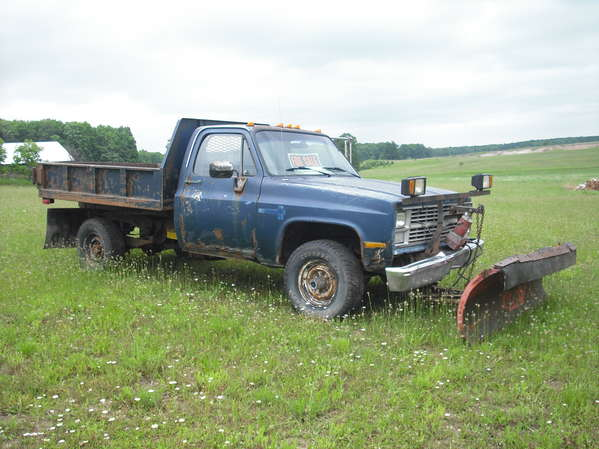 4x4 1 Ton Dump Trucks : Chevy ton wd dump plow in for sale
