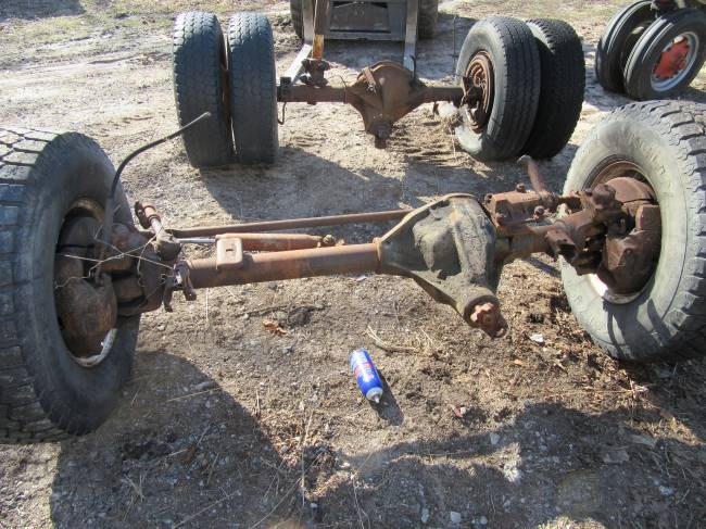 Chevy Dana 60 front and corporate rear axle in For Sale