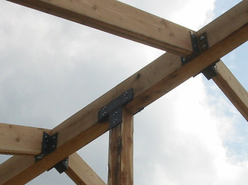 owner/builder of the restaurant fabricated the steel brackets himself ...