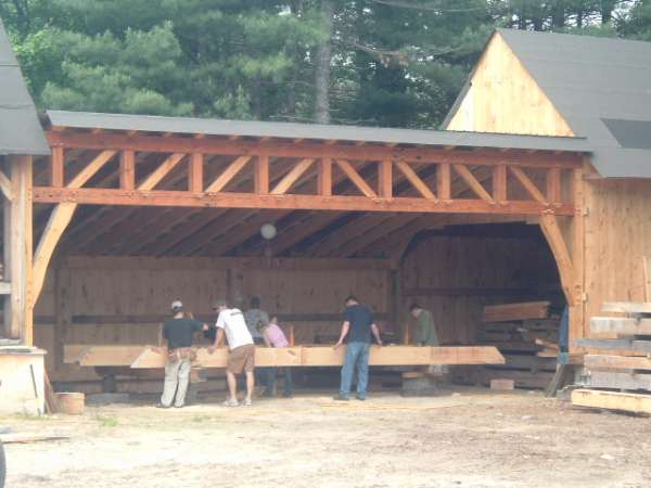 Saw shed the hard way in Timber Framing/Log construction