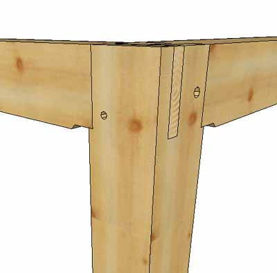 Question on joinery at post, plate, and beam intersection in Timber ...