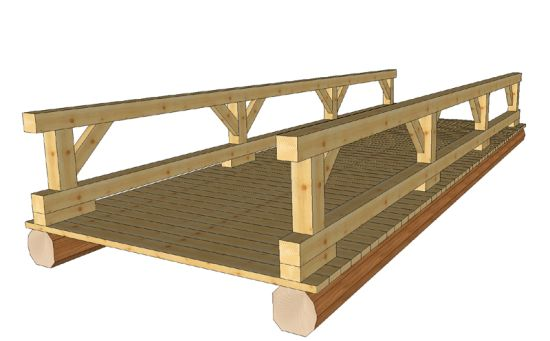 Jim 39 s timber frame design services in services for Timber frame bridge