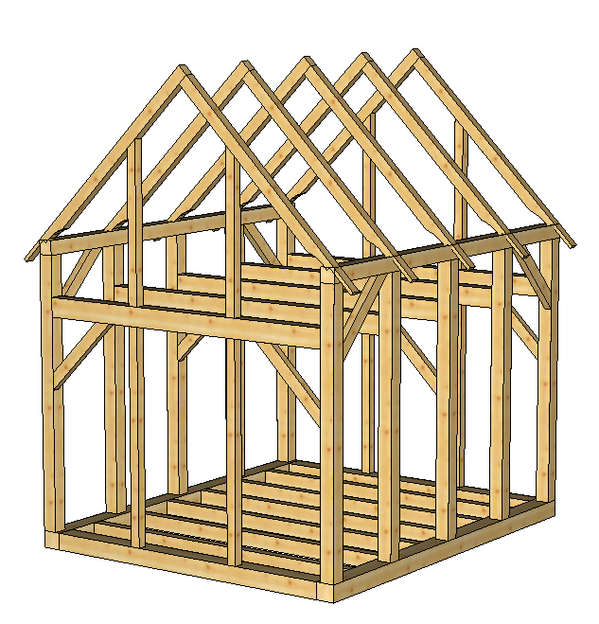10 x 14 Sobon Shed in Timber Framing/Log construction