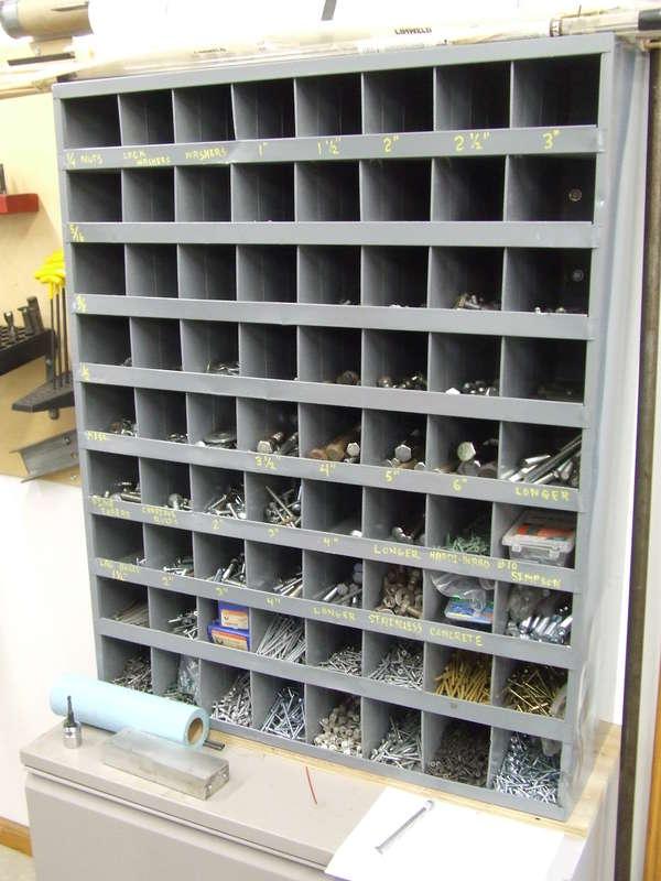 Bolt Storage Bins In General Woodworking