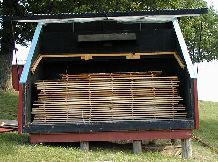 A Much Larger Firewood Solar Kiln This Is Just An Exle
