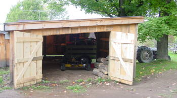 outdoor wood boiler shed photos in firewood and wood heating