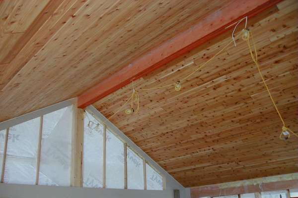 Open Beam For Cathedral Ceiling In Timber FramingLog
