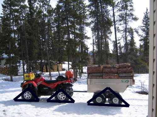 ATV Snow sled design for skidding logs