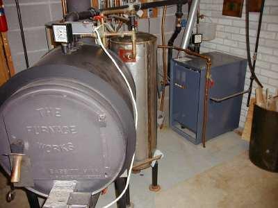 Indoor Wood Boiler In Firewood And Heating