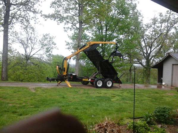 Dump Trailer W Grapple Loader Diversity In Forestry And Logging