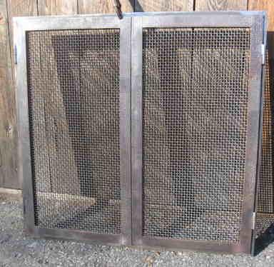 iron as wood fireplace screens