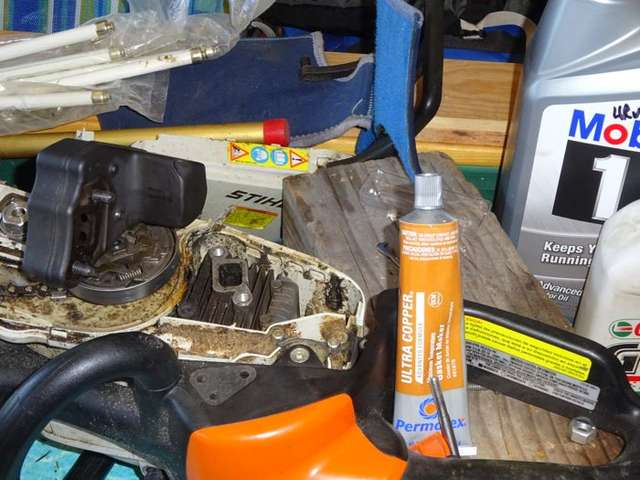 Need to make a gasket for muffler in Chainsaws