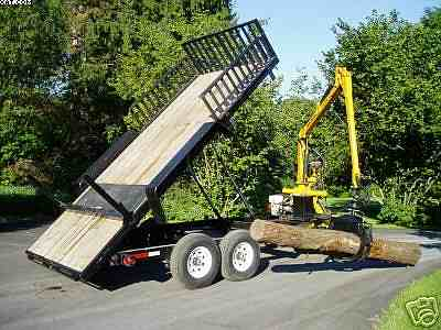 Log Grappling Trailer In Sawmills And Milling