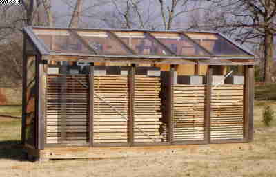 With Care A Solar Kiln Can Dry Wood Pieces That Are Just About Any Shape Or Size You Often Mixed Species And Thicknesses In The Same Load