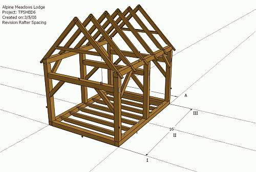 Timberframe Shed Design in Timber Framing/Log construction