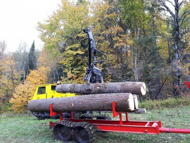 J5 Bombardier Trailer in Forestry and Logging