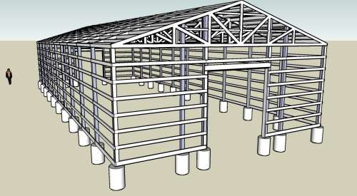 gable free pole barn plans designs