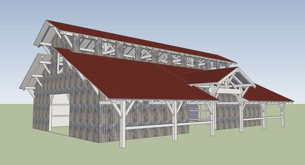 Monitor Style Barn Kit Horse Barn Plans Barn Building Kits