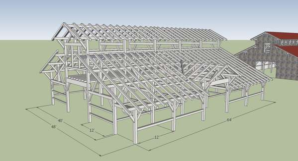 Window Openings Near The Eaves Of Main Center Portion Of The Barn To Allow  Light Into Loft And Center Bay.