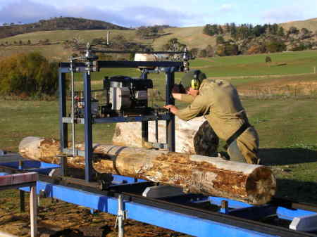 Home built slabber in Sawmills and Milling