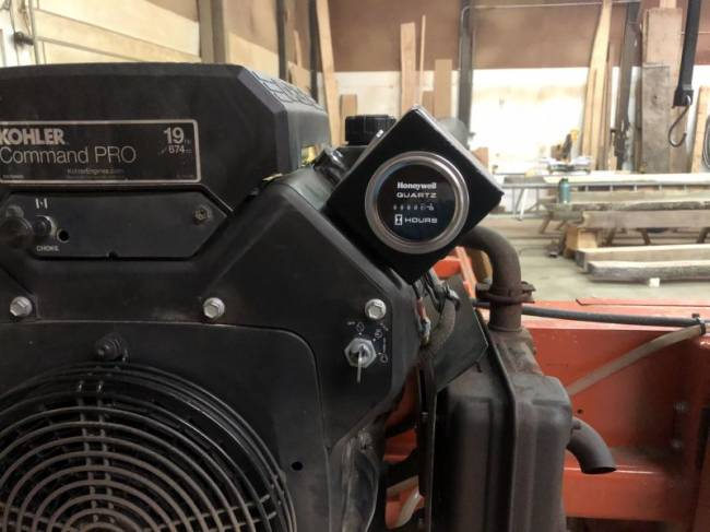Hour meter install on LT15 in Sawmills and Milling