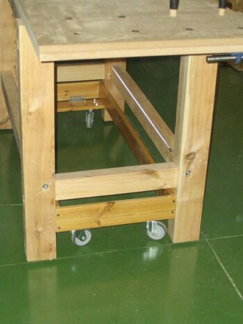 Retractable Casters For Wood Working Bench In General