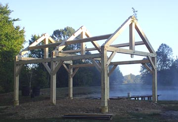 Simple Post Beam Barn Plan In Timber Framing Log