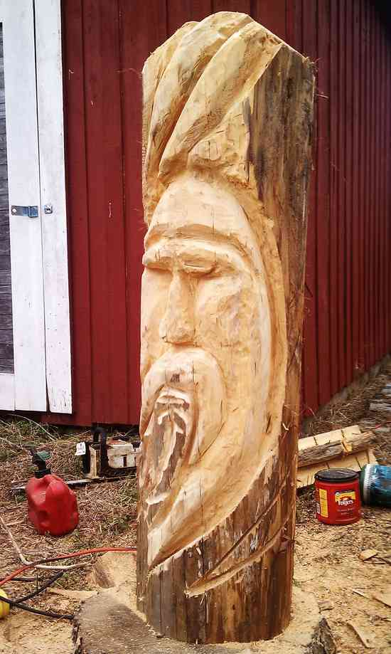 First go at chainsaw carving in general woodworking