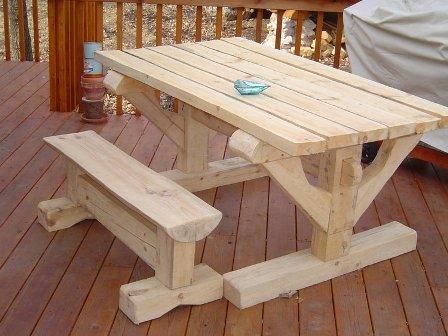 Magnificent Picnic Table Ideas In Timber Framing Log Construction Creativecarmelina Interior Chair Design Creativecarmelinacom