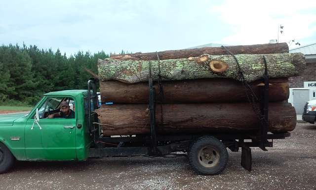 side loader log truck in Forestry and Logging