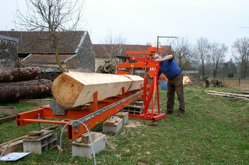 Log turner for an LT15 in Sawmills and Milling