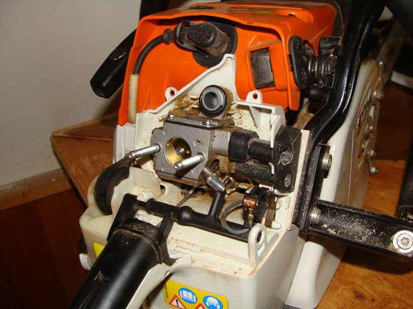 Muffler Modding an MS361 in Chainsaws