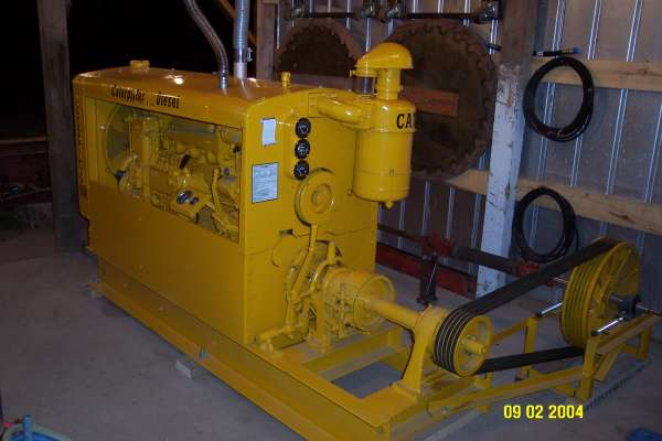 Used Sawdust Blower : Circle mill power unit setup in sawmills and milling