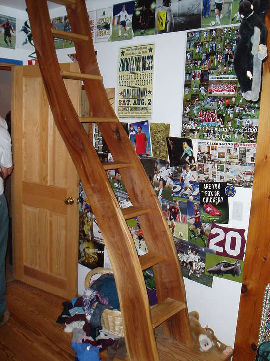 Loft Ladder In Timber Framinglog Construction