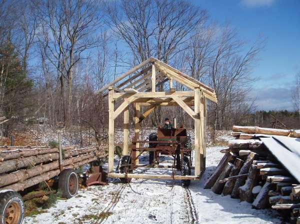 Timber Frame shed in Timber Framing/Log construction