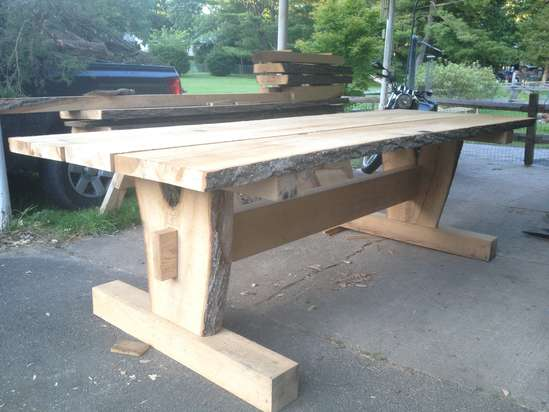 Timber frame picnic table in Timber Framing/Log construction