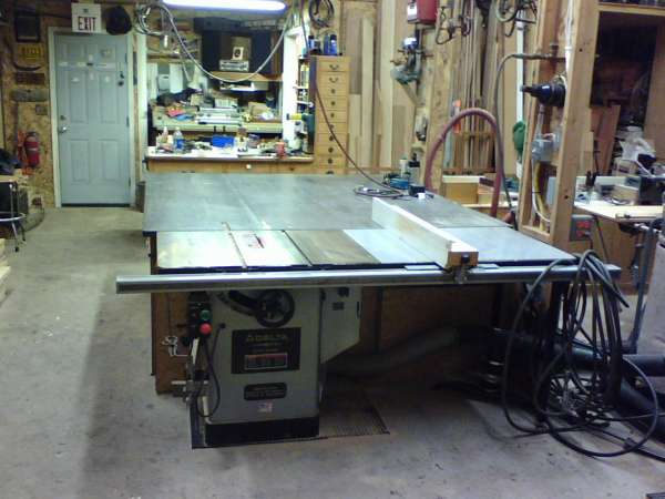 I have used this set up for many years I like to have a work table same height as all machines helps when your working by your self. & Powermatic table saw in General Woodworking
