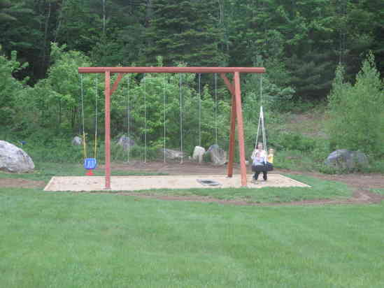 Timber Frame Swingset In Timber Framing Log Construction