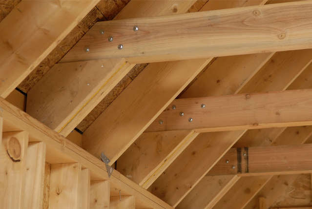 Raised Tie Ceiling Joists In Attached Garage In General Board
