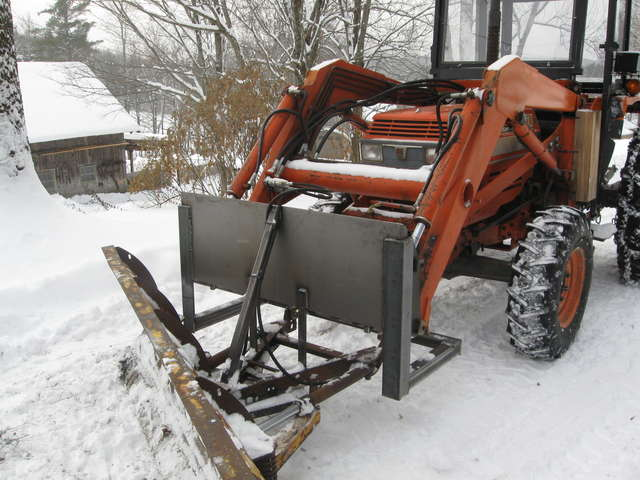 homemade quick attach snowplow (updated w/wing extension) in