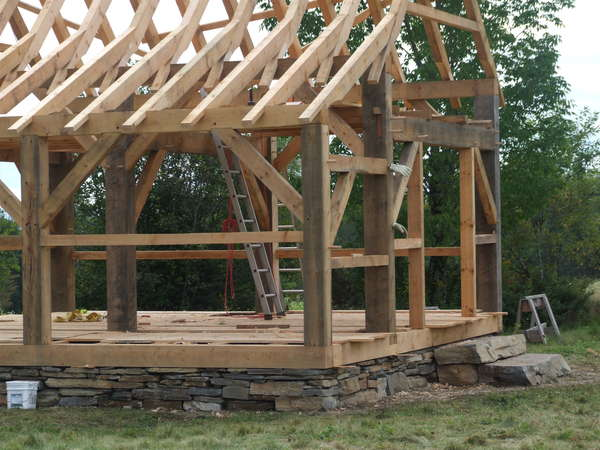 Assistance with lean-to rafters attaching to shed in Timber Framing