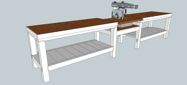 Timber Frame Workbench In Timber Framing Log Construction