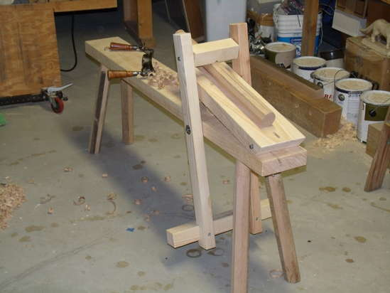 Adirondack chair plans simple shave horse