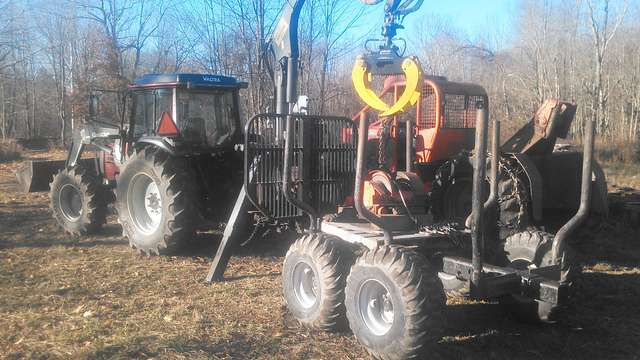 Herculeseaton Winch On A 1978 225 Tj In Forestry And Logging