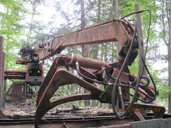 GMC 10 wheeler log truck with Prentice Loader IH with