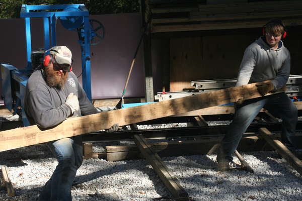 our cabin progress in Sawmills and Milling
