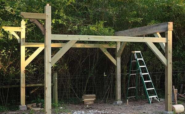 Progress toward shed for sawmill in Timber Framing/Log