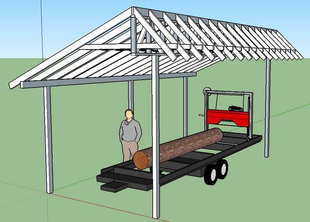 Another) Sawmill shed design thread, but I could use some help in